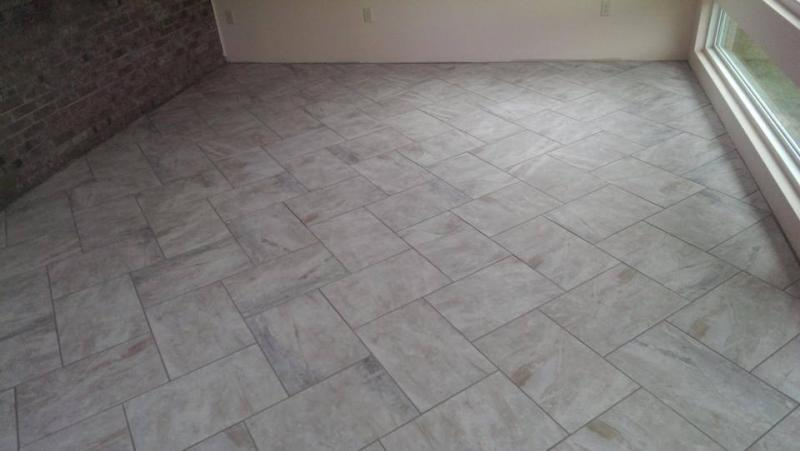 Herringbone Tile Lay